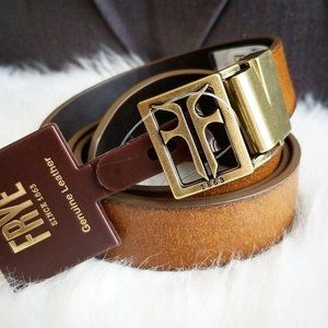 Frye Logo Leather Reversible Belt